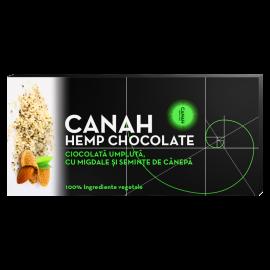 Ciocolată umplută cu Migdale și Semințe de Cânepă