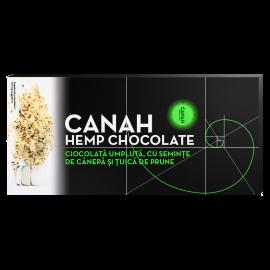 Ciocolată umplută cu Semințe de cânepă și Țuică de Prune