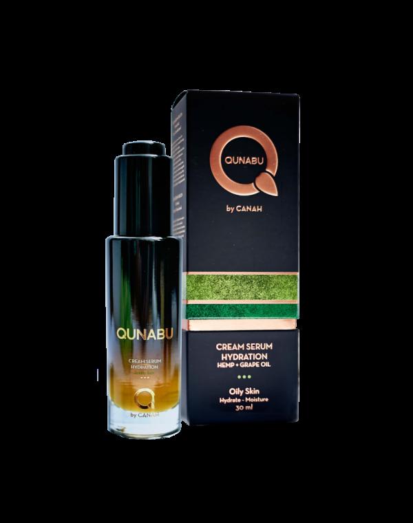 Cremă serum de hidratare pentru ten gras QUNABU 30 ml