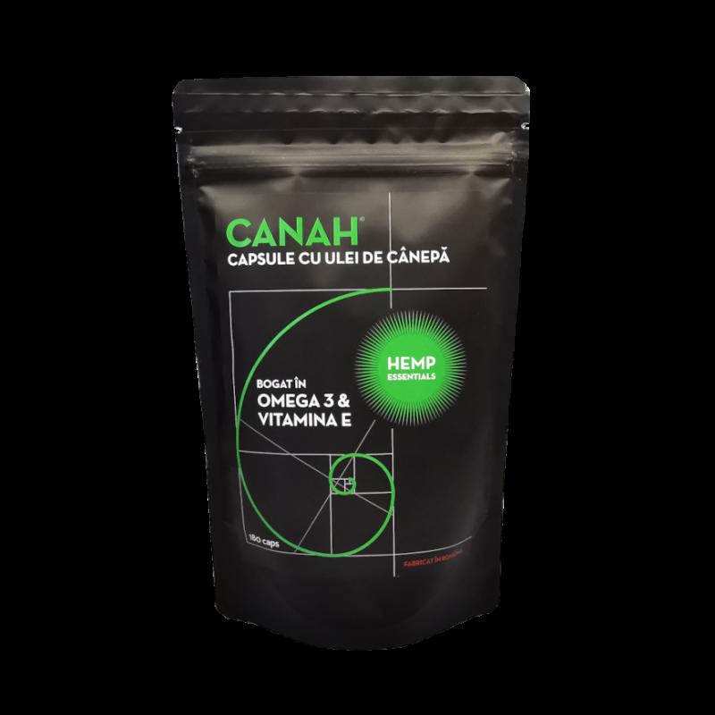 Canah Capsule ulei de canepa 180buc fata site 870px